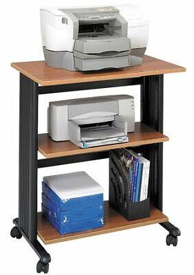 Safco 1881mo Adj Printer Stand3 Levelmed Oakblk