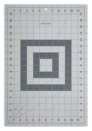 NEW - Fiskars 12-83707097 Cutting Mat,Self-Healing,12X18 In,Gray