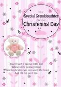 Granddaughter Christening Card