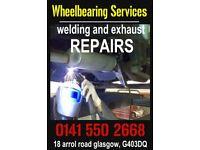 wheel bearings, cv joints, welding, steering, suspension, servicing, mot, abs, car repairs, glasgow