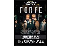 CAMDEN ROCKS PRESENTS FORTE AND MORE AT CROWNDALE CLUB