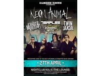 CAMDEN ROCKS PRESENTS NEON ANIMAL AND MORE AT THE LOUNGE