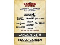 THE CAMDEN ROCKS JANUARY ALL-DAYER PT. 3 AT PROUD CAMDEN