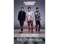 CAMDEN ROCKS PRESENTS LORENZA AND MORE LIVE AT CROWNDALE CLUB