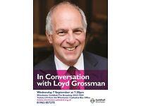 IN CONVERSATION WITH LOYD GROSSMAN