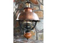Vintage lantern brass ceiling & wall lights