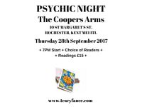 TRACY FANCE PRESENTS PSYCHIC NIGHT IN ROCHESTER, KENT