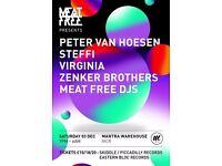 Meat Free w/ Peter Van Hoesen, Steffi, Virginia & Zenker Brothers