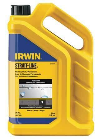 IRWIN STRAIT-LINE 2032160 Marking Chalk Refill,Black,5 Lb