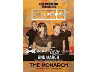 CAMDEN ROCKS PRESENTS THE AU REVOIRS AND MORE AT THE MONARCH