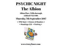 PSYCHIC NIGHT AT THE ALBION INN, ASHFORD, KENT