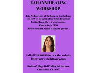 Rahanni Healing Workshop, Canterbury