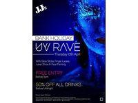 Maundy Thursday: UV Rave on April 13, 2017