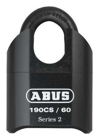 Abus 190Cs/60 Combination Padlock,Bottom,Black/Silver