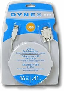 DYNEX USB to Serial Adapter Cable & FireWire Digital Media Cable