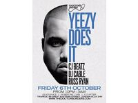 Yeezy Does It - Kanye West Party @ Trapeze, Shoreditch - Friday 6th October