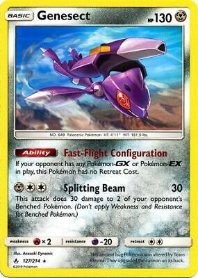 Genesect 127/214 - Rare Pokemon Card - Unbroken Bonds Set (2019) - NM