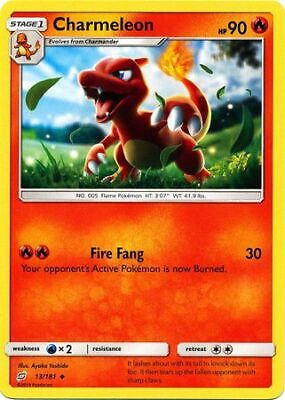Charmeleon 13/181 - Uncommon Pokemon Card - Team Up Set (2019) - NM