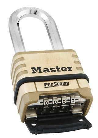 Master Lock 1175Dlh Combination Padlock,Bottom,Black/Silver