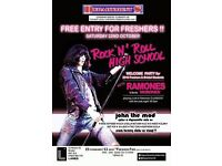 Department s Club Night : Free for Freshers with 'Morones' Ramones Tribute