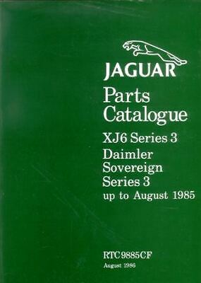 Jaguar Xj6 & Daimler Sovereign Series 3 Parts Catalog 1979-1985
