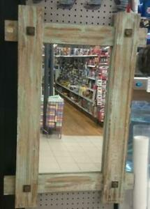 "Kawartha Home Hardware Rustic, Wood Framed Mirror - 34.5"" H x 24"" W"