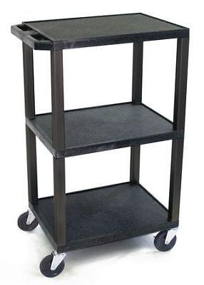 Zoro Select Wt42 Molded Plastic Shelf Utility Cart 300 Lb. Capacity 24l X