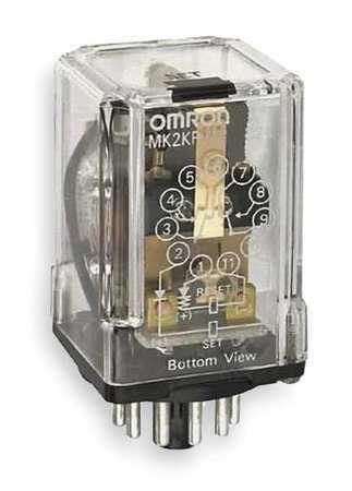 Omron Mk2kp-Ua-Ac240 Latching Relay,11 Pins,Octal,240Vac