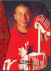JAROME IGINLA .... DIE CUT ROOKIE CARD ... 1994-95 Upper Deck SP