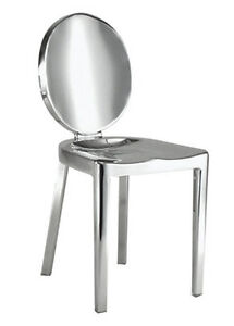POLISH STAINLESS STEEL DINING CHAIR, COUNT STOOL AND BAR STOOL