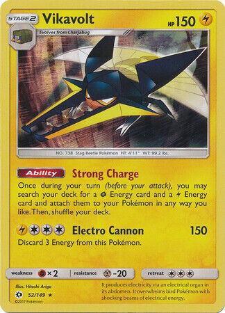 4x Vikavolt SM28 Promo NM Promo Pokemon