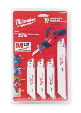 "MILWAUKEE 49-22-0220 4, 6"" L x 5, 12, 14, 18, TPI General Purpose Cutting"