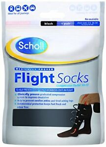 Scholl Flight Socks  **Shoe Sizes 6-9** Cotton Feel