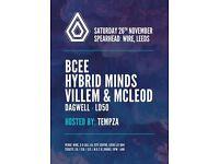 Spearhead Presents - Leeds - Hybrid Minds, BCee, Villem & McLeod