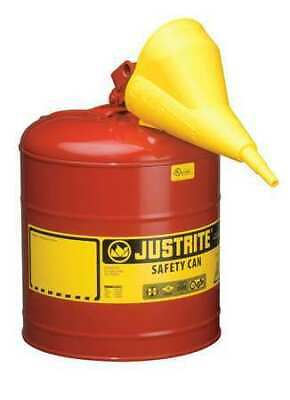Justrite 7150110 5 Gal. Red Galvanized Steel Type I Safety Can For Flammables