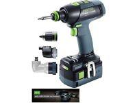 Festool cordless drill T18+3 574759 batteries 5.2ah new !!!