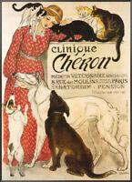 Théophile Alexandre Steinlen Wood Mount Print Clinique Cheron