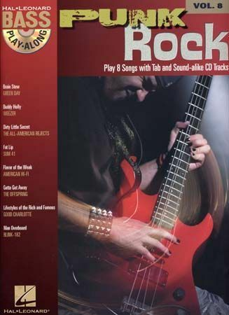 Punk Rock Bass Guitar TAB Learn to Play Weezer Sum 41 Music Book & CD