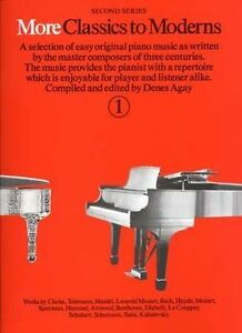 More Classics to Moderns Book 1 Easy Classical Piano 3 Centuries Denes Agay S10