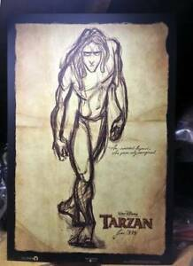 Disney's TARZAN Movie Poster -Plaque mounted