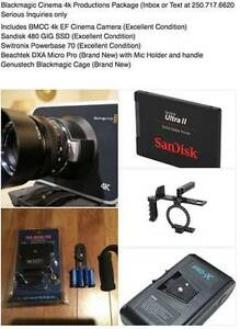 Blackmagic Cinema Camera 4k Production Package