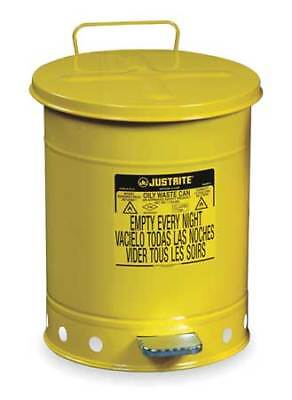 Justrite 09501 Oily Waste Can14 Gal.steelyellow