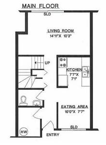 3 bedroom townhome in North Burnaby March 1st - $1700