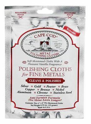 Cape Cod Metal Polishing Cloths - Pack of 2 #88821 NEW