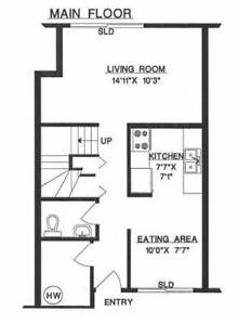 3 bedroom townhouse available now