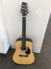 Rocket Music Acoustic Guitar , Guitar Stand, And Soft Carry Case
