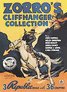 Zorros Cliffhanger Collection DVD, 2004  - $1.75