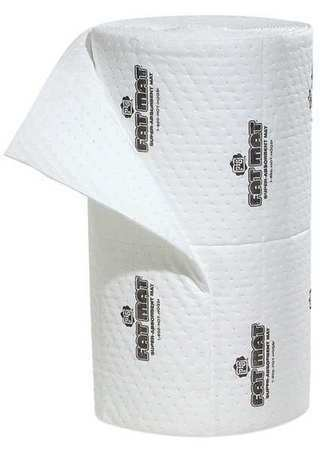 PIG MAT4102 Absorbent Roll, Absorbs 40 gal. Oil-Based Liquids, ,White
