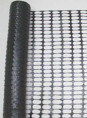 Zoro Select 33L957 Snow Fence, 4Ft. H, 50 Ft. L, Black