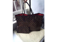 Louis Vuitton Neverfull Designer Bag Damier Speedy Handbag Womens Bag Tote